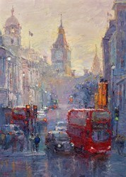 Afternoon, Whitehall, London by Lana Okiro -  sized 20x28 inches. Available from Whitewall Galleries